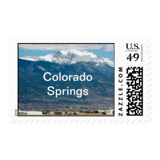 Pikes Peak, Colorado Springs Postage Stamp