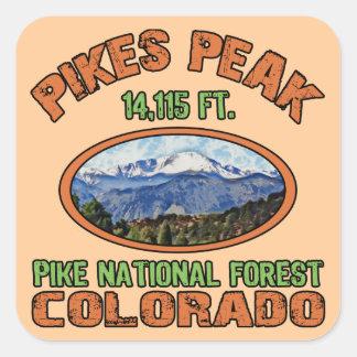 Pikes Peak, Colorado Square Sticker