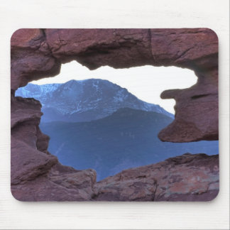 Pikes Peak Framed by Sandstone Hole Mouse Pad