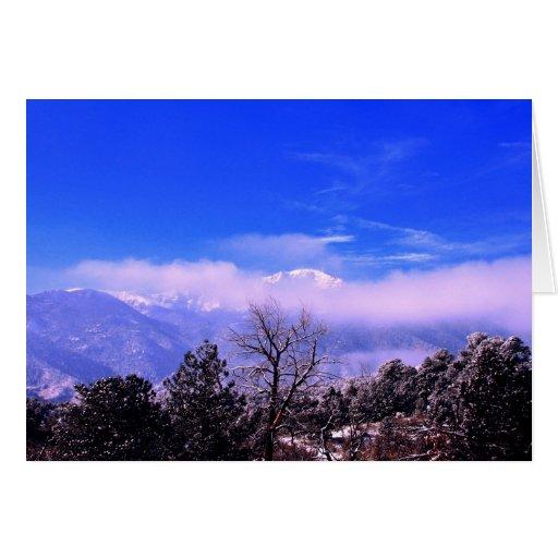Pikes Peak In Colorado Springs: Pikes Peak Mountain, Colorado Springs, CO Greeting Card