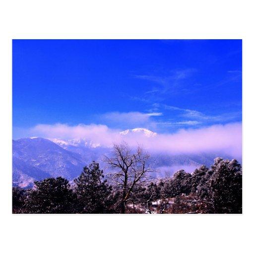 Pikes Peak In Colorado Springs: Pikes Peak Mountain, Colorado Springs, CO Postcard