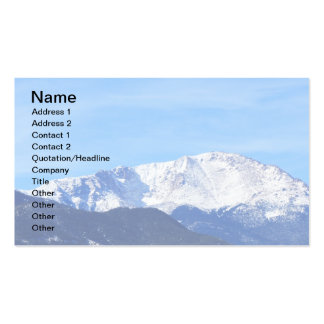 Pikes Peak Mountain, Colorado Springs, Colo Double-Sided Standard Business Cards (Pack Of 100)