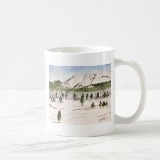 Pikes Peak Mountain Painting Coffee Mug