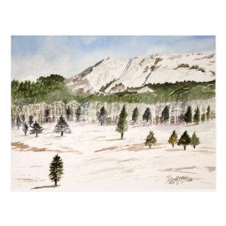 Pikes Peak Mountain Painting Postcard