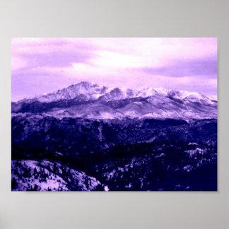 Pikes Peak Mountain Poster