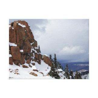 Pikes Peak Mountaintop Snowy Canvas Print