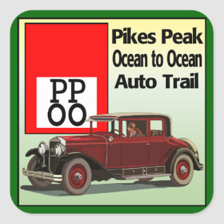 Pikes Peak Ocean to Ocean Auto Trail Square Sticker