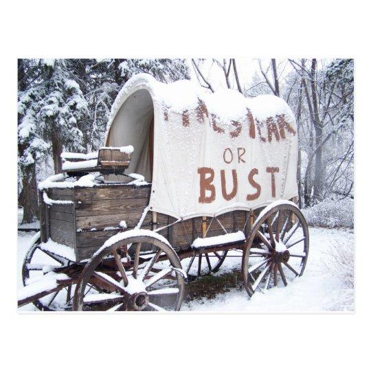 Pikes Peak or Bust Postcard