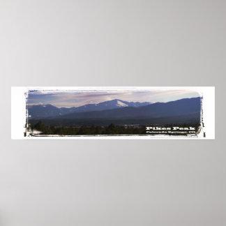 Pikes Peak panorama Poster