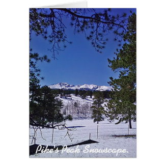 Pike's Peak Snowscape Stationery Note Card