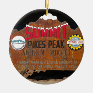 Pike's Peak Summit, Colorado Ceramic Ornament