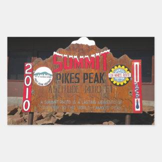 Pike's Peak Summit, Colorado Rectangular Sticker