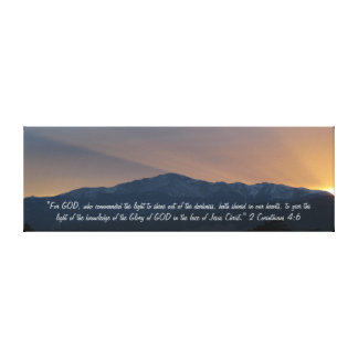 Pike's Peak Sunset with Bible Verse Canvas Print