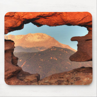 Pikes Peak through Sandstone Hole 02 Mouse Pad