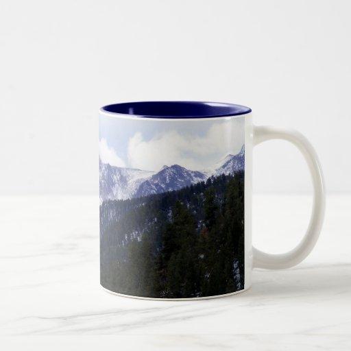 Pikes Peak Coffee >> Pikes Peak Two-Tone Coffee Mug | Zazzle
