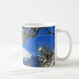 Pikes Peak Winter Snow Covered Fractal Art Coffee Mug