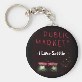 Pikes Place Market at Nite Keychains