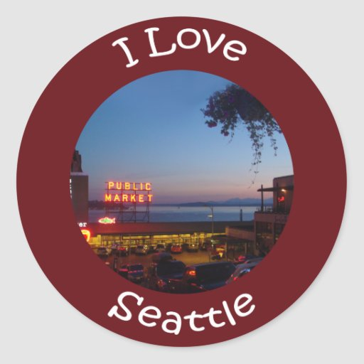Pikes Place Market Classic Round Sticker