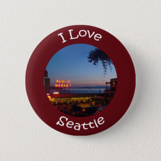 Pikes Place Market Pinback Button