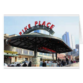 Pikes Place Market Seattle,WA Greeting Card