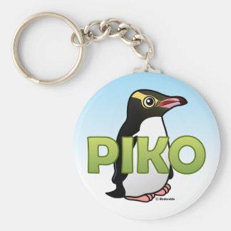 Piko el pingüino Amarillo-observado Llavero Redondo Tipo Pin