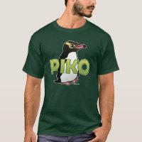 Piko, the Yellow-eyed Penguin Men's Basic Dark T-Shirt