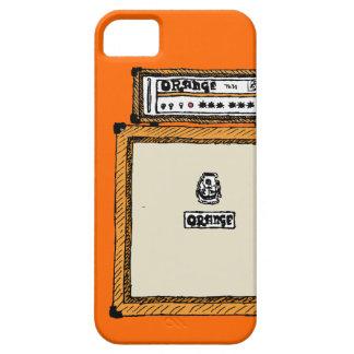 Pila anaranjada funda para iPhone 5 barely there