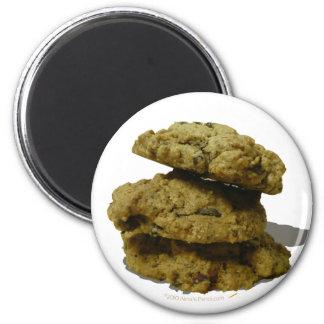 Pila de amantes de la galleta de las galletas imán redondo 5 cm