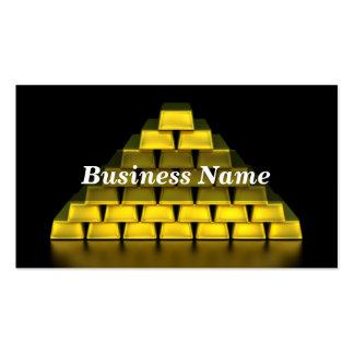 Pila de barras de oro plantillas de tarjeta de negocio