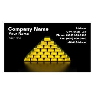 Pila de barras de oro plantillas de tarjetas personales