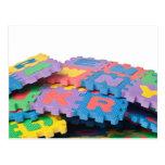 Pila de bloques del alfabeto tarjeta postal