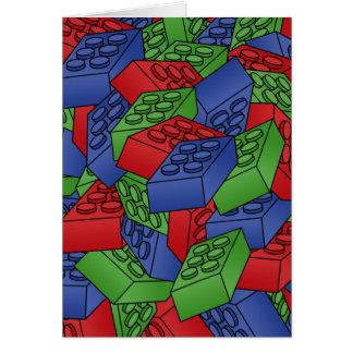 Pila de bloques huecos tarjeta de felicitación