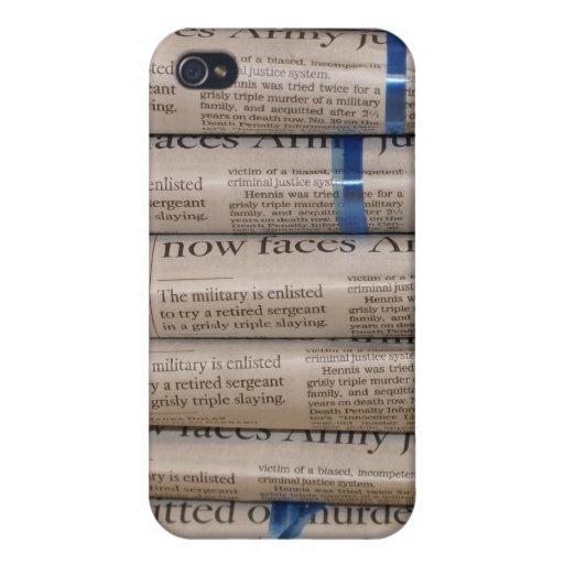 Pila de caja del teléfono del arte de los periódic iPhone 4 carcasas