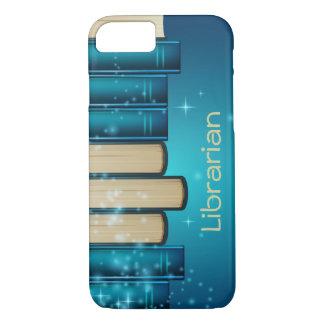 Pila de caja del teléfono del diseño de los libros funda iPhone 7