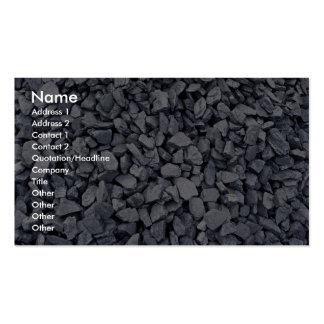 Pila de carbón excavada recientemente de mina de t plantillas de tarjetas personales