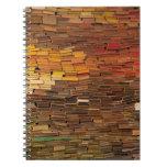 Pila de cuaderno de los libros