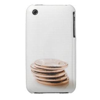 Pila de diez monedas del centavo iPhone 3 Case-Mate funda