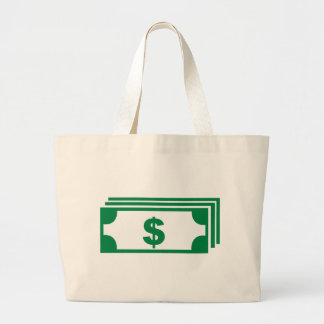 Pila de dólares bolsa tela grande