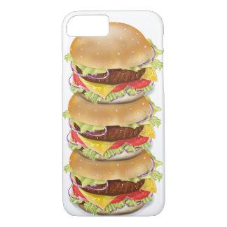 Pila de hamburguesas o de cheeseburgers funda iPhone 7