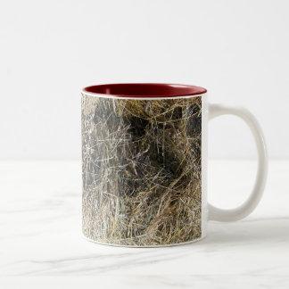 Pila de heno taza de café