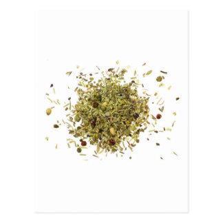 Pila de hierbas mezcladas tarjeta postal