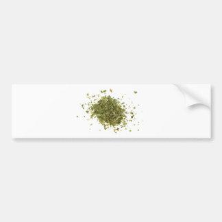 Pila de hojas tajadas del coriandro pegatina para auto