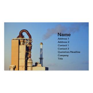 pila de humo para la fábrica del cemento tarjetas de visita