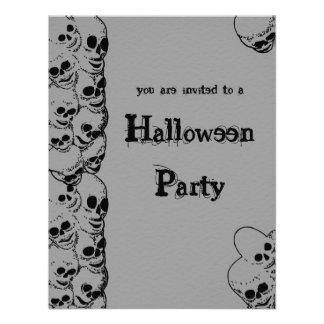 Pila de invitación del fiesta de Halloween de los