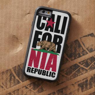 Pila de la bandera de la república de California Funda De iPhone 6 Tough Xtreme