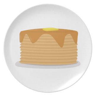 Pila de la crepe plato de comida