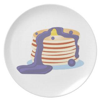 Pila de la crepe platos