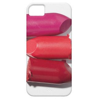 Pila de lápiz labial quebrado iPhone 5 carcasas