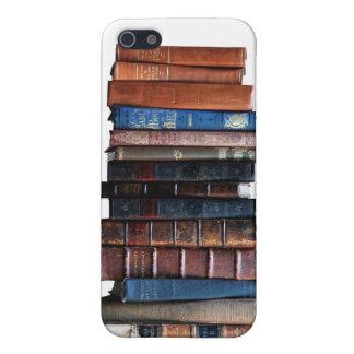 Pila de libro, cubierta antigua del iPhone de los  iPhone 5 Fundas