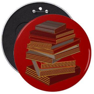 Pila de libros - BrownGrey Pin Redondo 15 Cm